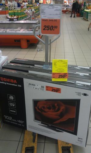 "[Lokal HH Wandsbek] Toom Supermarkt: Toshiba 40LV933 - 40"" FullHD LCD für 250€"