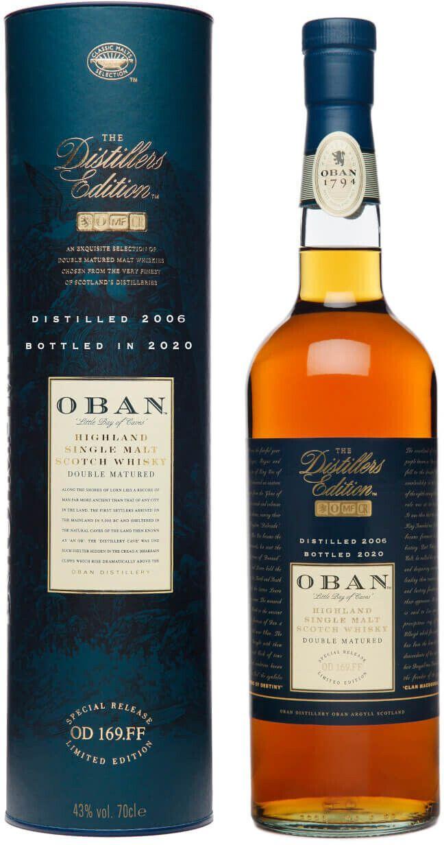 Bevbox.de Whisky Übersicht, z.B. Oban Distillers Edition 2006/2020 43% 0,7l Für 60,99€