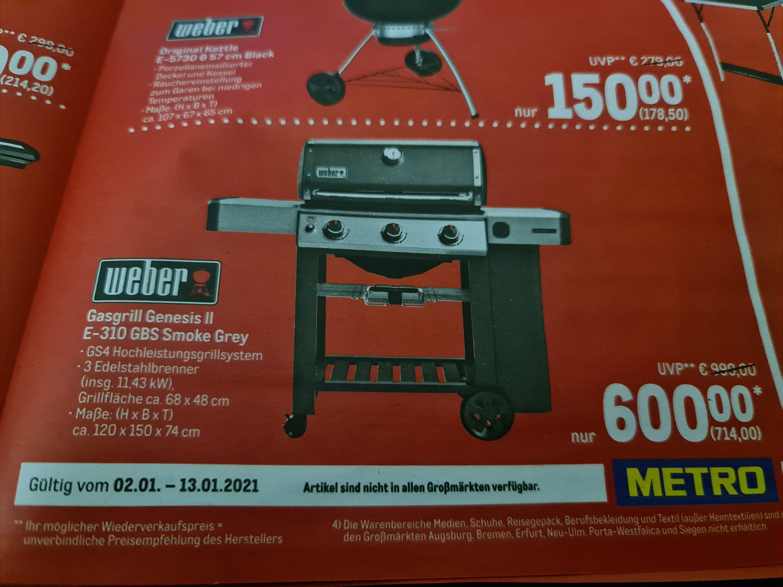 Weber Genesis II 2 E-310 GBS Smoke Grey