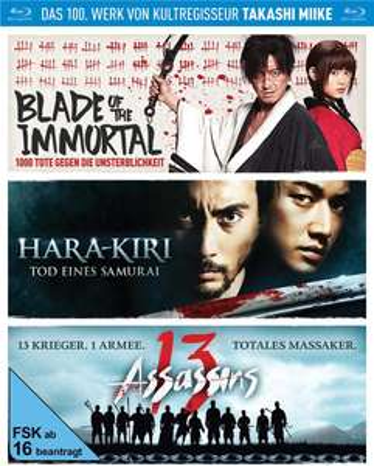Takashi Miike Box - Blade of the Immortal / Hara-Kiri: Tod eines Samurai / 13 Assassins (3 Blu-ray) (CeDe)