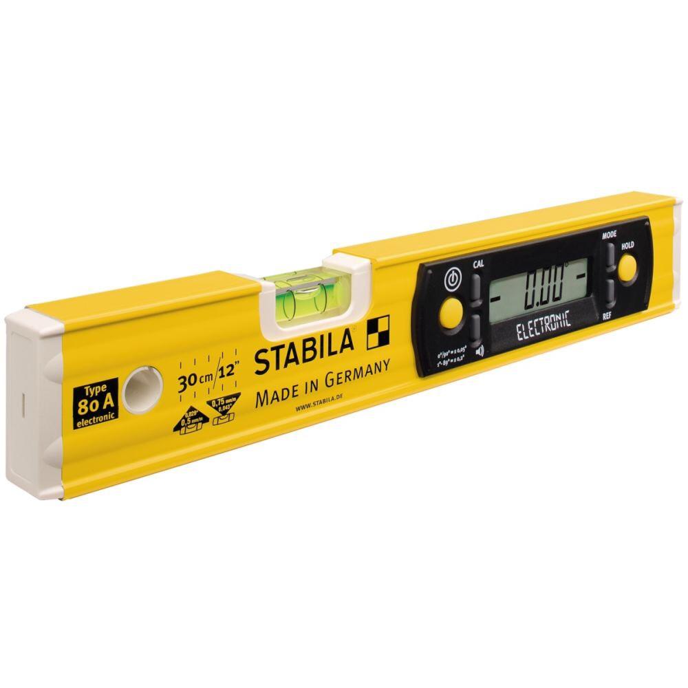 Stabila Elektronik- Wasserwaage TECH 80 A electronic, 30 cm, mit Digital-Display svh24