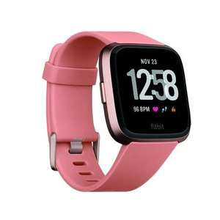 Fitbit Versa pfirsich/rosegold Smartwatch (Schrittzähler, Kalorienerfassung, Herzfrequenzmessung, bis zu 4 Tage Akkulaufzeit) [Expert]