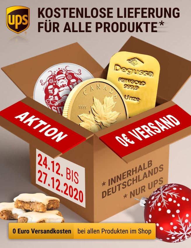 Kettner Edelmetalle - Kostenlose Lieferung vom 24. 12. bis 27.12