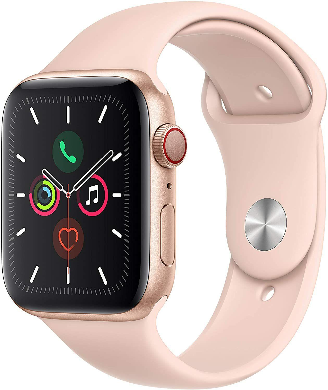 Apple Watch Series 5 (GPS + Cellular) 44mm Aluminium mit Sportarmband gold pink (Amazon UK)