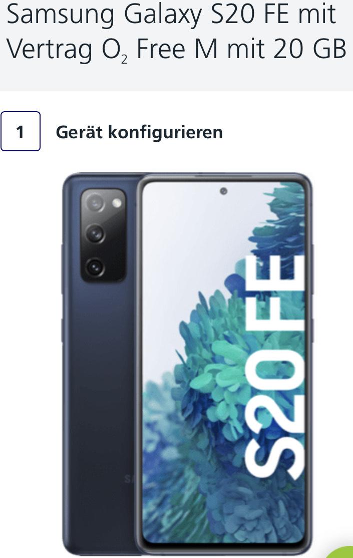 [o2 Online] o2 Free M 20GB + Galaxy S20 FE