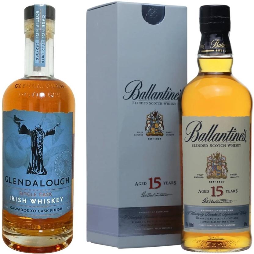 Whisky-Übersicht #63: z.B. Ballantine's 15 für 32,81€, Glendalough Single Cask Calvados XO Finish Irish Whiskey für 31,91€ inkl. Versand