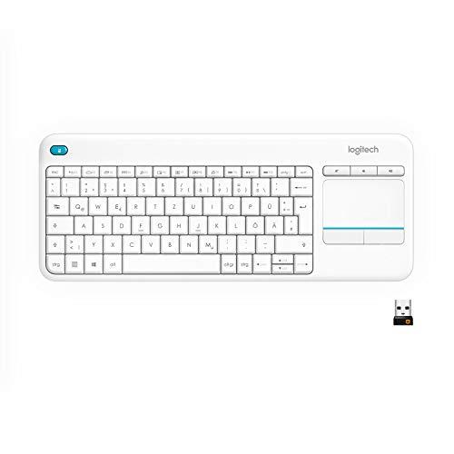 (Prime) Logitech K400 Plus Touch Wireless Tastatur weiß (QWERTZ, deutsches Tastaturlayout)