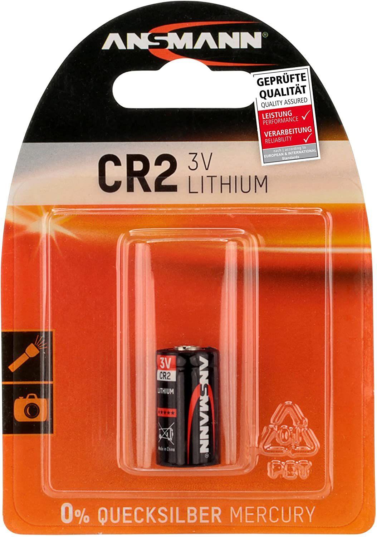 [Amazon Prime] ANSMANN CR2 (3V) Lithium Photobatterie (1-er Pack), Garagentoröffner, Alarmanlage, Kamera usw.