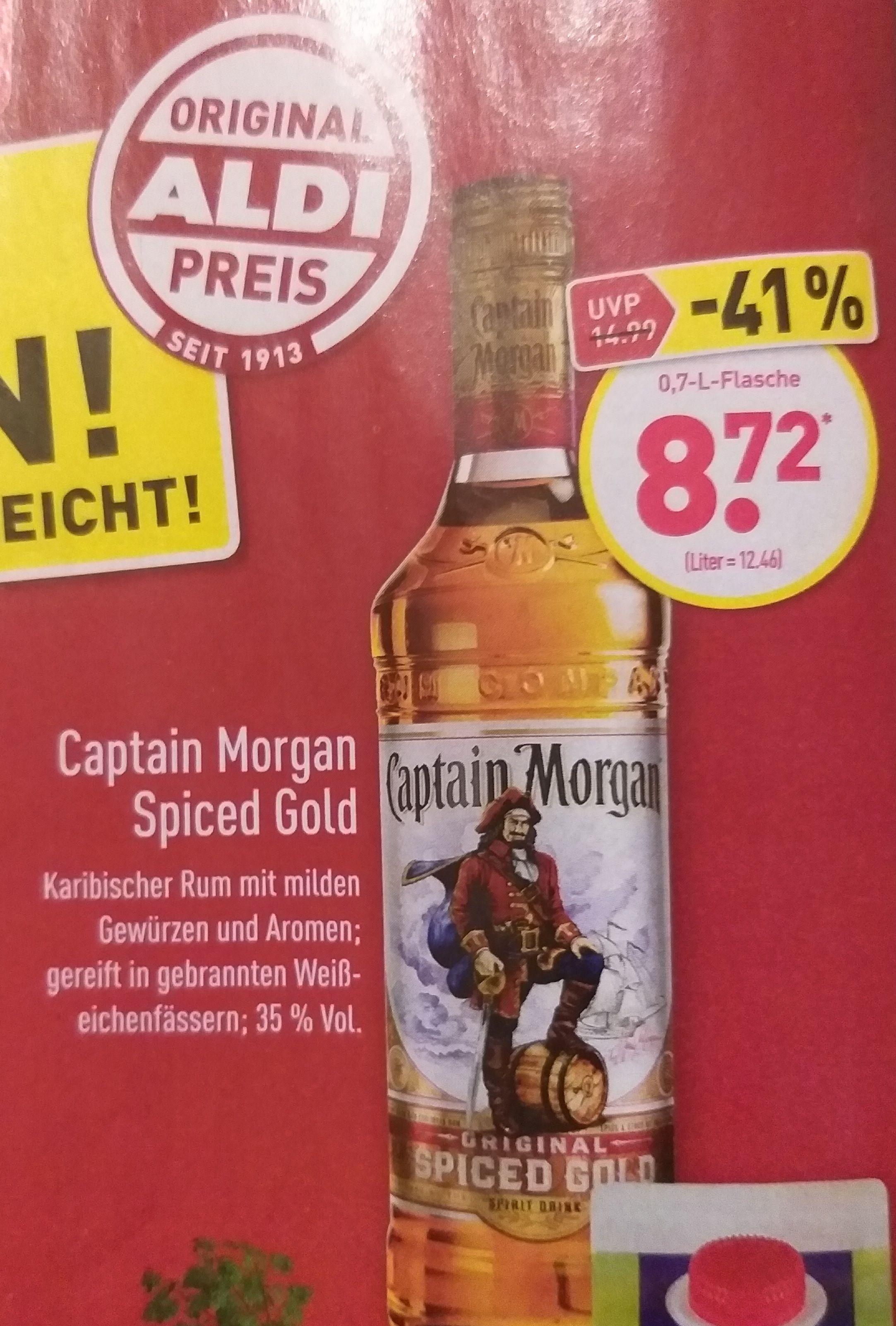 ALDI NORD - Captain Morgan Spiced Gold 0,7 Liter ab 28.12.2020
