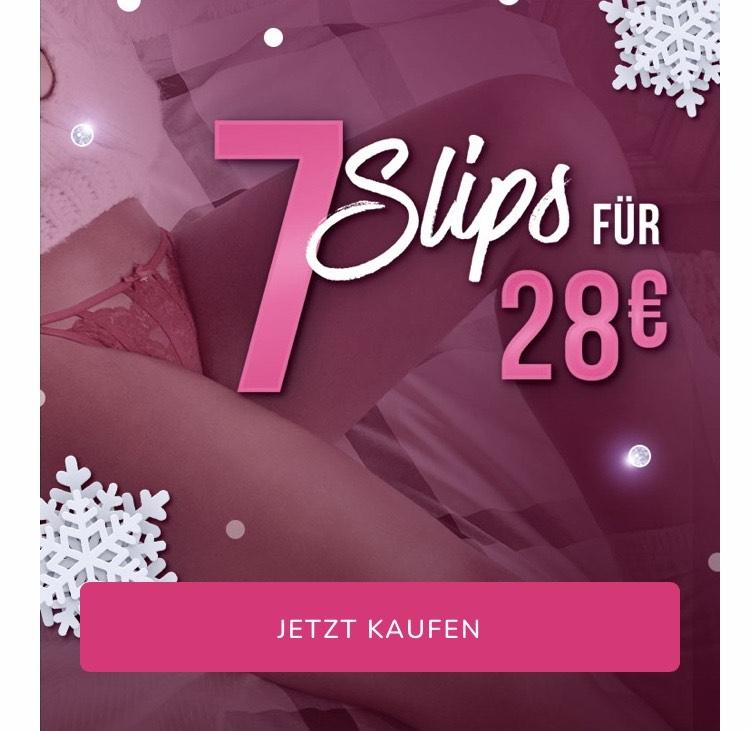 Hunkemöller 7 Slips für 28€