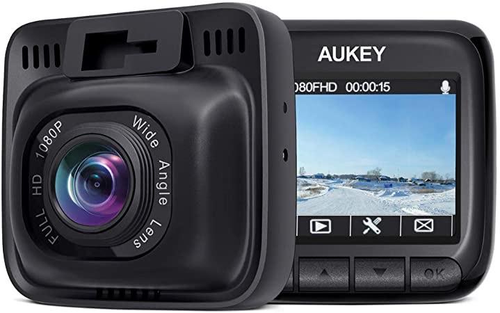 Aukey Dashcam DR-01-DE ( 170 Grad Weitwinkel, Superkondensator, WDR Nachtsicht Kamera mit G-Sensor, Bewegungserkennung )