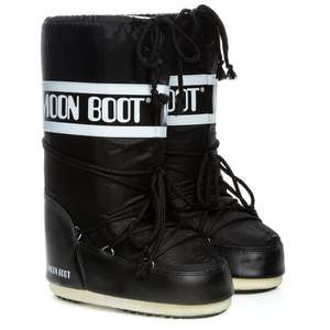 Den original Moon Boot in schwarz nylon Gr. 39-41
