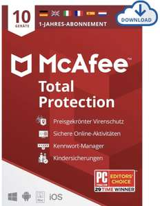 McAfee Total Protection 2021 | 10 Geräte | 1 Jahr