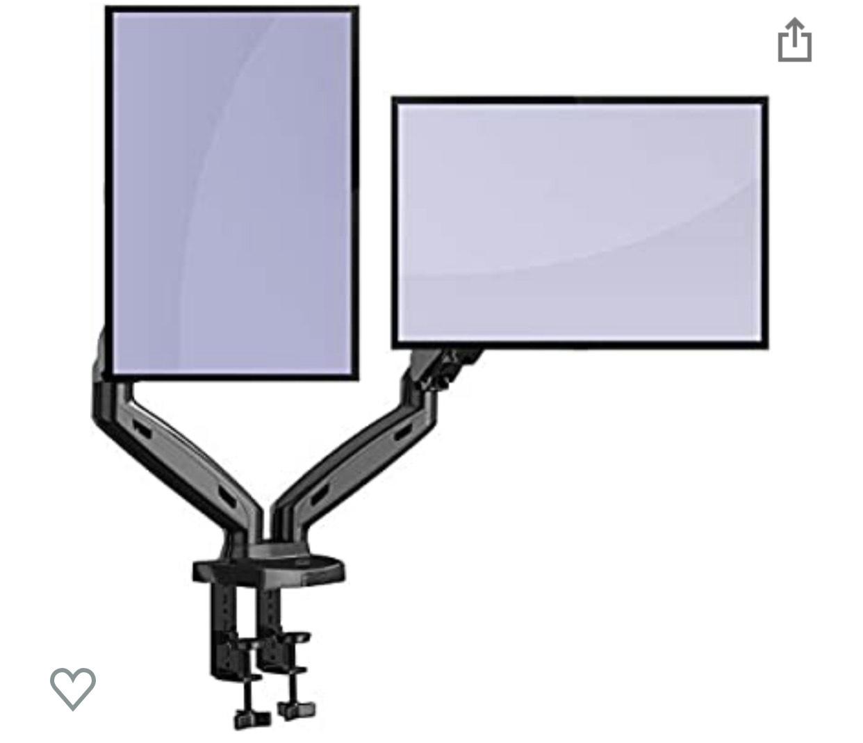 "[Amazon Blitzangebot] Invision MX300 Monitorhalterung für 2 Monitore (17""-27"")"