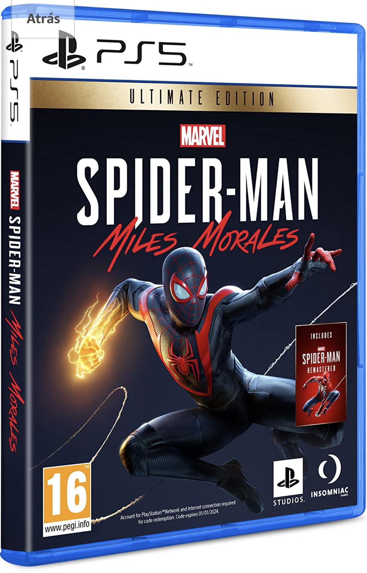 PS5 - Marvel´s Spider-Man: Miles Morales Standard Edition 47,12€ / Ultimate Edition für 56,70€