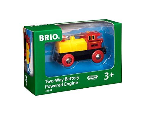 (Prime) BRIO Bahn 33594 - Gelbe Batterielok und grüne Batterielok 33595 im Angebot