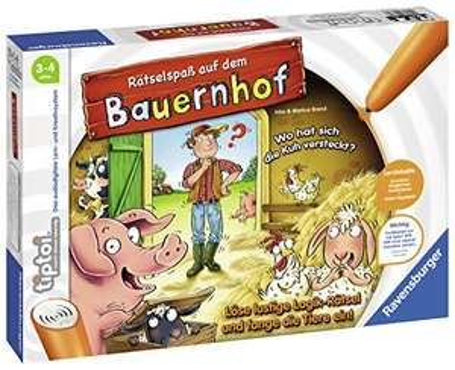 (Prime) Ravensburger tiptoi Spiel 00830 Rätselspaß auf dem Bauernhof - Lernspiel ab 3 Jahren