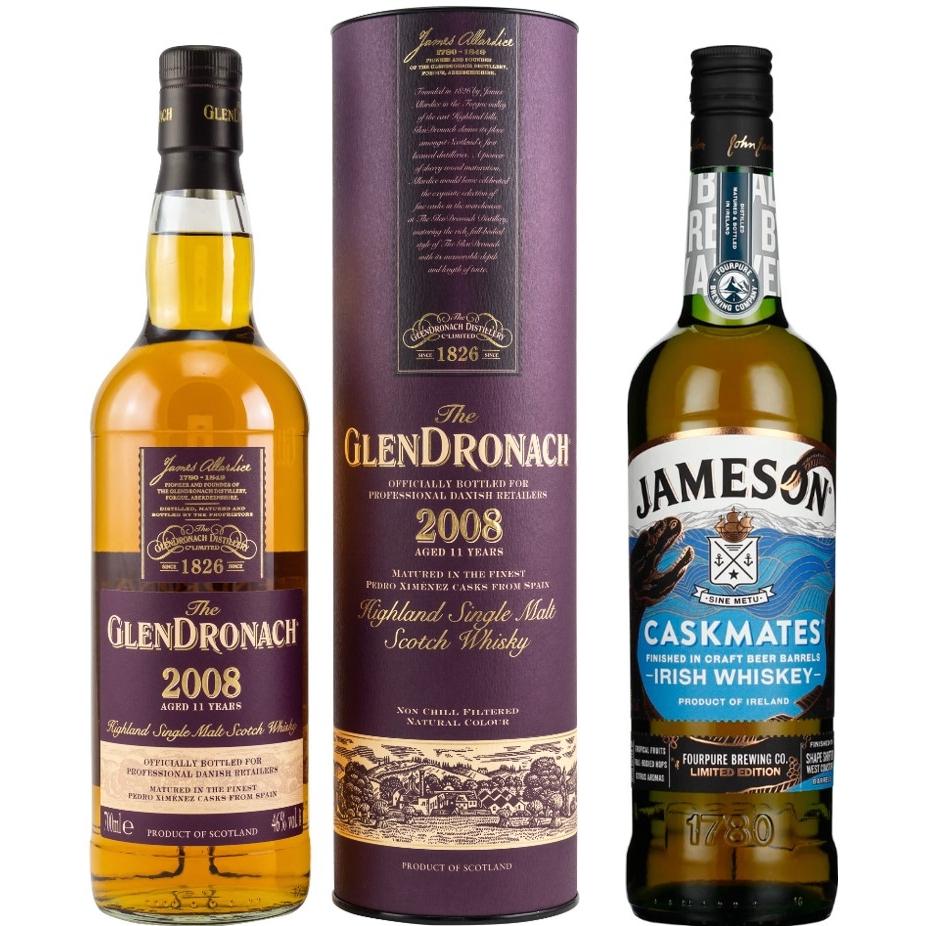 Whisky-Übersicht #64: z.B. Glendronach 2008/2019 PX Sherry Cask für 63,45€, Jameson Caskmates Fourpure Limited Ed. für 34,45€ inkl. Versand