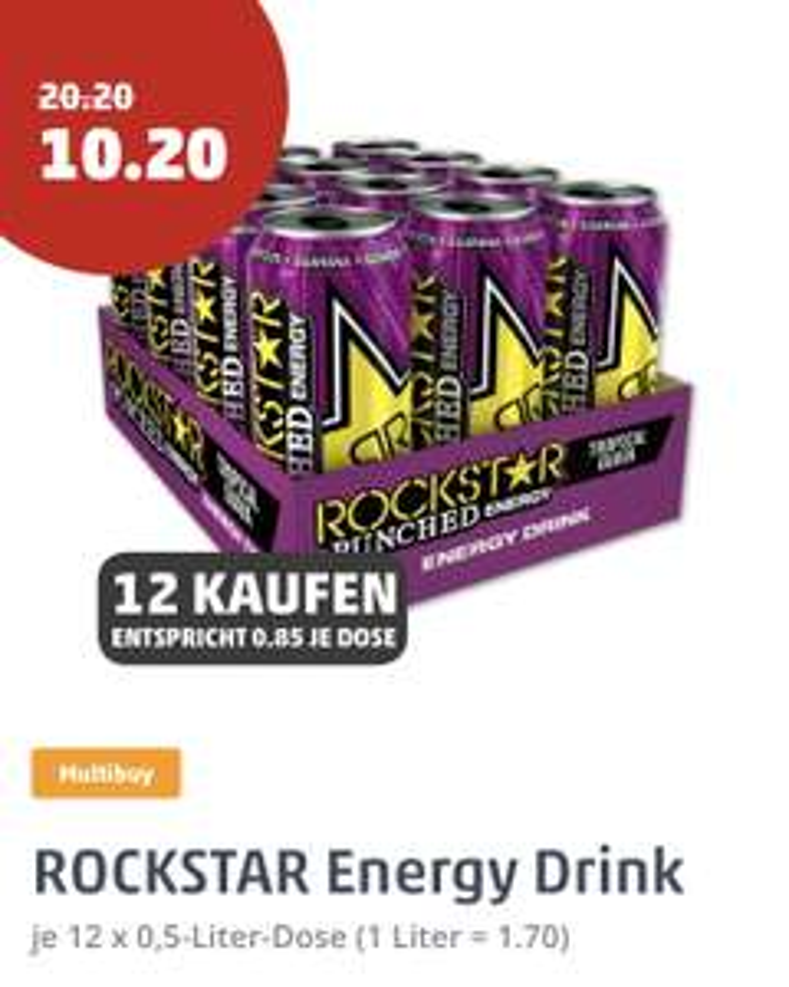 [PENNY] Rockstar Energy Drink (12 x 0,5l, vers. Sorten)