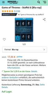 Game of Thrones - Staffel 6 (Amazon Prime)