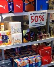 50 % Rabatt auf sämtliche Weihnachtsartikel im DM Markt vor Ort