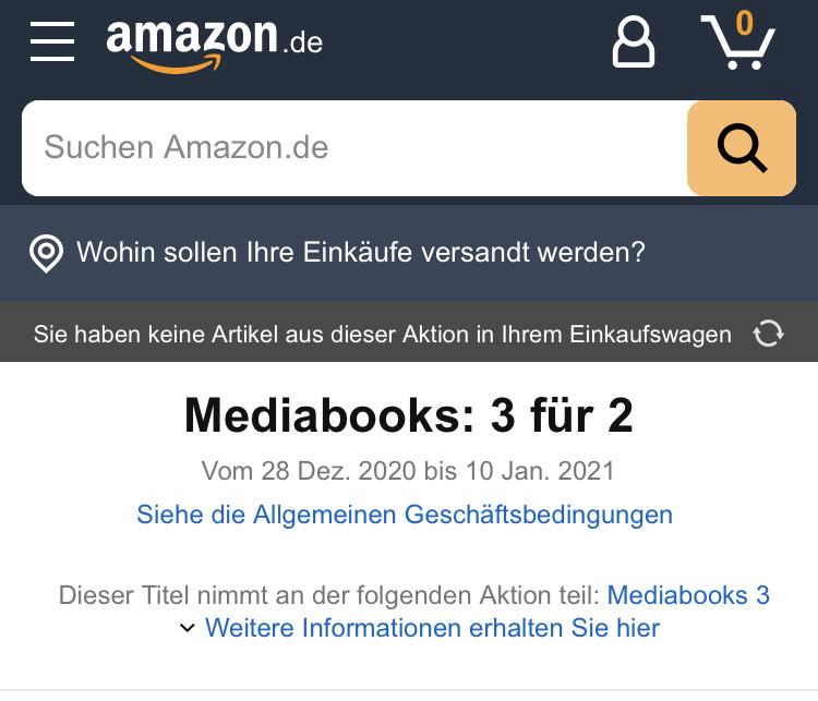 """Aktuell bietet Amazon eine """"3 für 2 Aktion"""" für ausgewählte Mediabook Editionen an."""