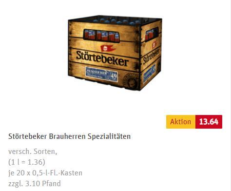 [Lokal Hamburg, Bremen, Schleswig-Holstein] Störtebeker vers. Sorten 20x 0,5Liter (zzgl. 3,10€ Pfand)