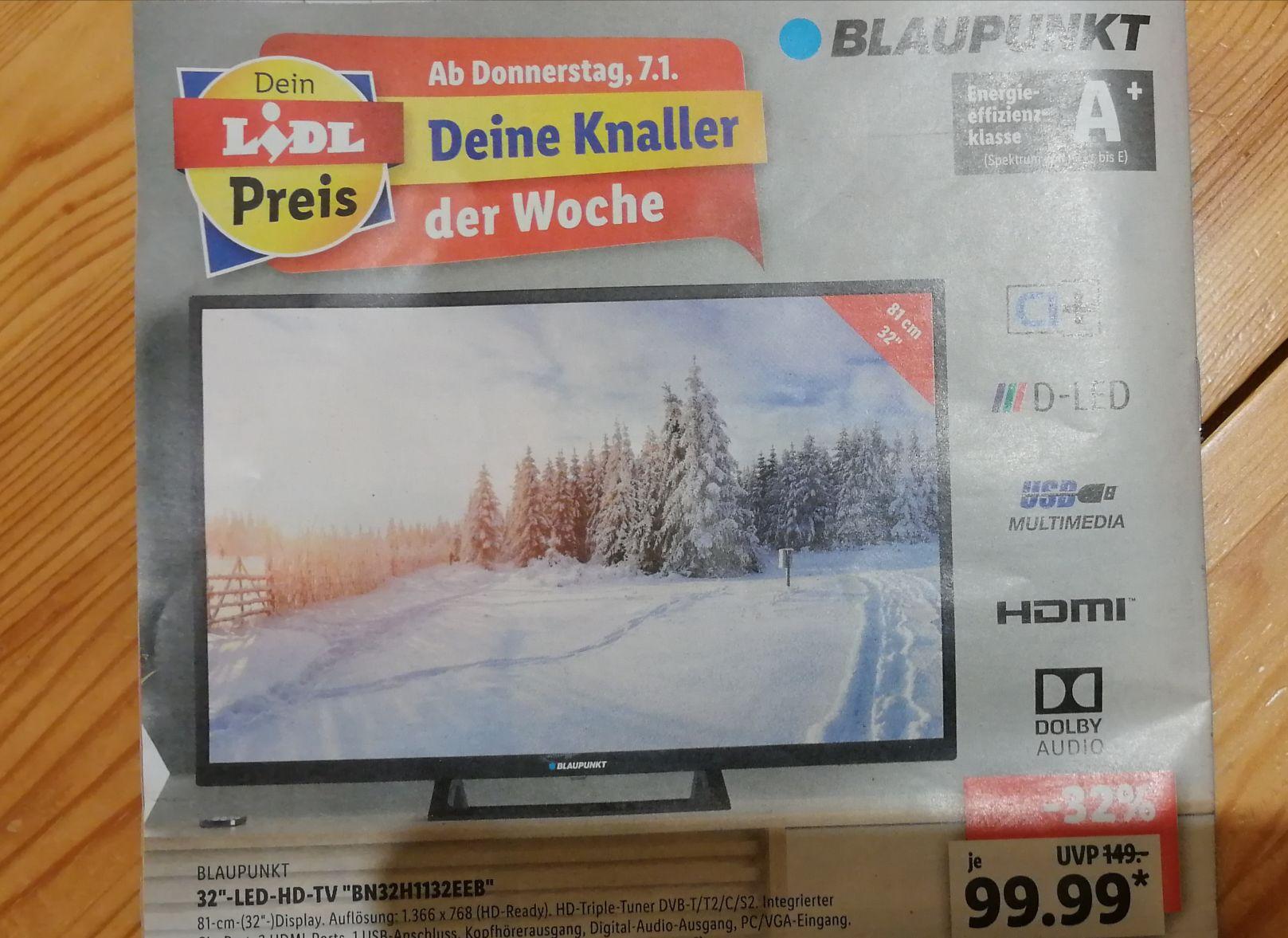 Blaupunkt 32 Zoll LED HD TV bei Lidl ab 07.01.2021