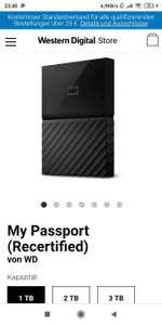 WD My Passport 2TB (recertified) externe Festplatte