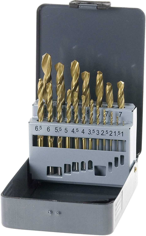 kwb KRAFTIXX HSS Titan Bohrer-Set, 19-teilig, Ø 1 bis 10 mm (Steigung 0,5 mm) [Prime]
