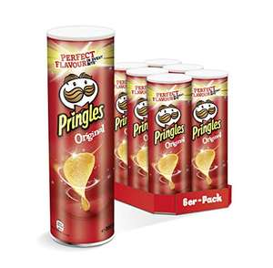 6x Pringles Original, Hot & Spicy, Sour Cream & Onion o. Classic Paprika (als Sparabo nur 7,13 € / 6,38 €)