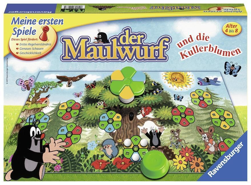 Ravensburger 21267 - Der Maulwurf und die Kullerblumen (Brettspiel, ab 4 Jahren, 2-4 Spieler)