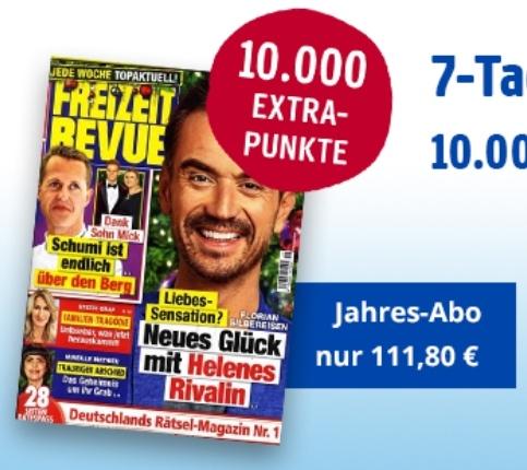 [BurdaDirect/Payback] Jahresabo (52 Ausgaben) Freizeit Revue mit 10.060 Payback Punkten