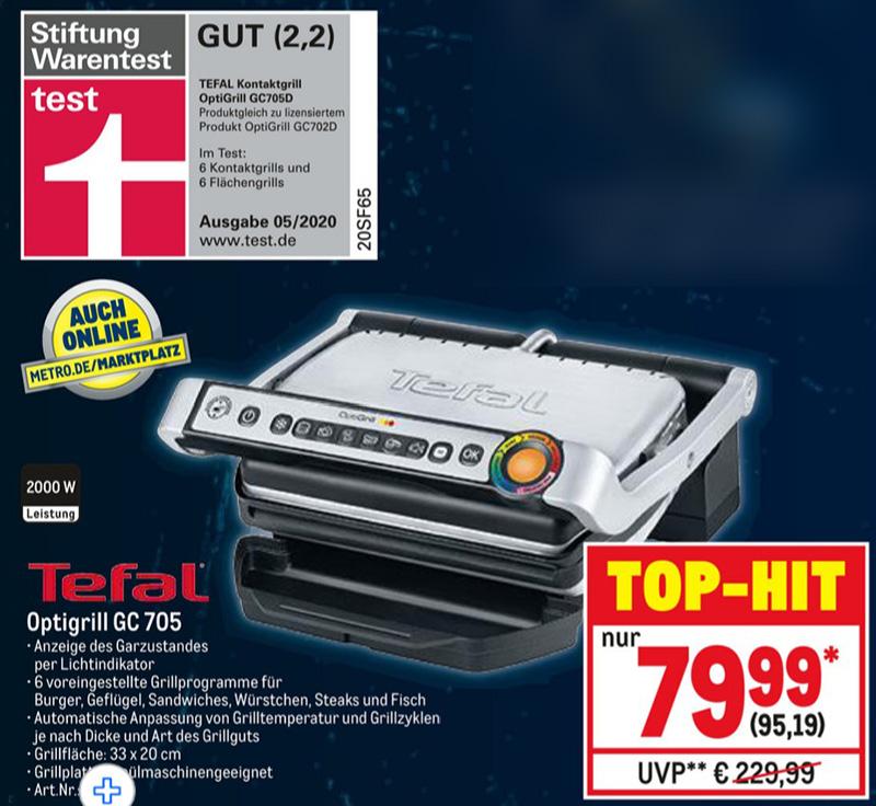 [METRO] Tefal Kontaktgrill Optigrill GC705 - NUR 4 TAGE