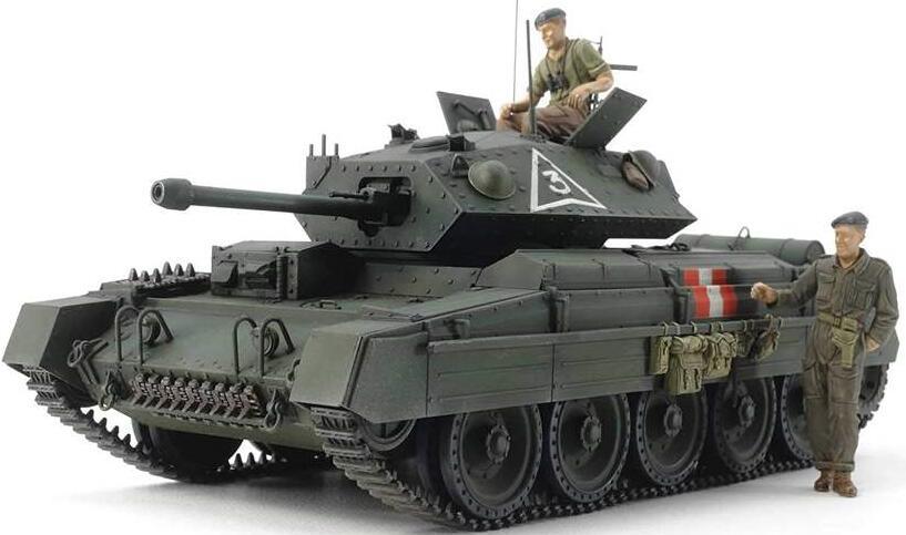 Tamiya 1:35 Brit. Cusader Mk.III Med. Tank (Modellbausatz) inkl. 2 Figuren (real)