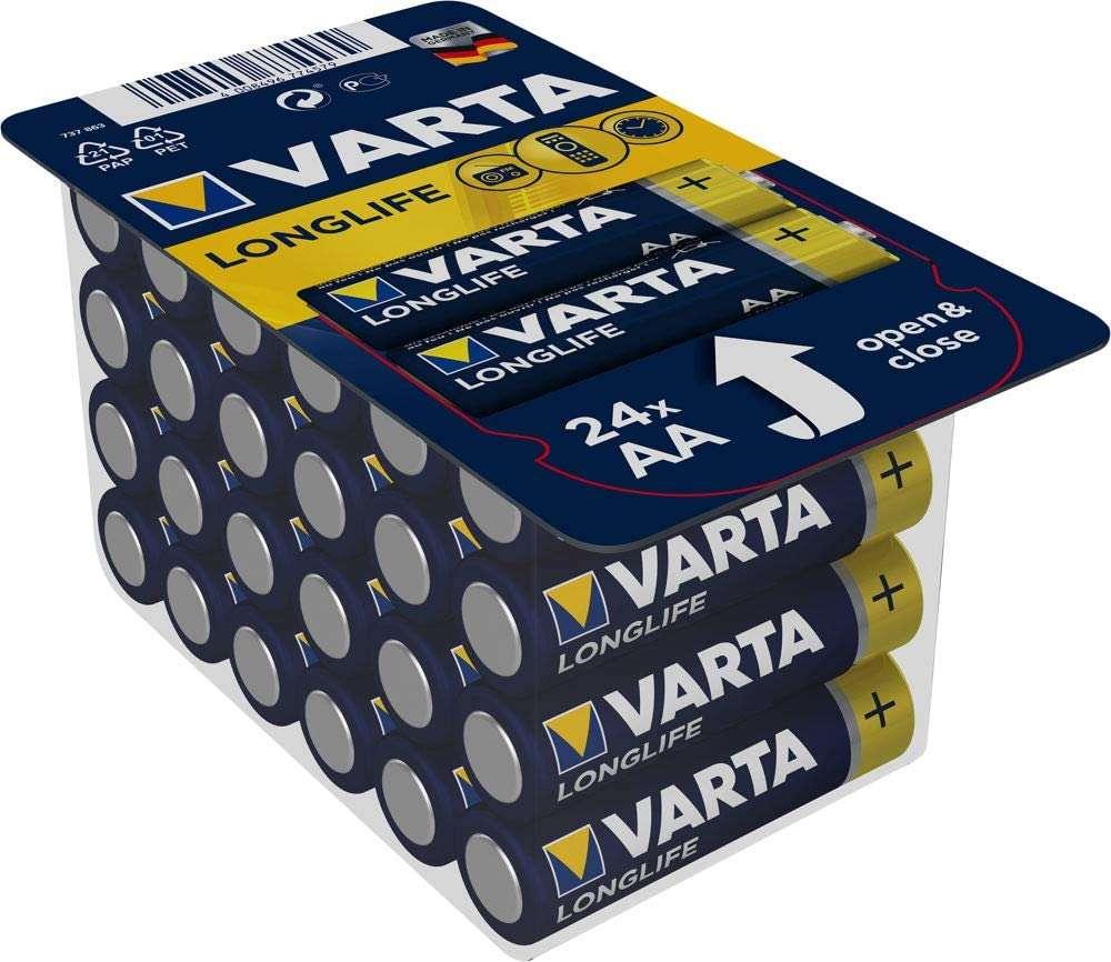 [NETTO MD] VARTA 24er-Pack Alkaline-Batterien Longlife AAA oder AA für je 5,83€ + bis zu 15% Rabatt auf einen Artikel