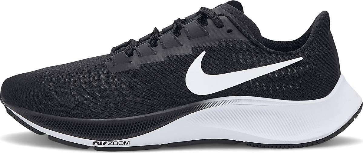 [Herren Laufschuhe] Nike AIR ZOOM PEGASUS 37 schwarz black Gr. 42-46 (Neutral, Daily Trainer, 285g, 10mm Sprengung) (mit Shoop 54,31€)