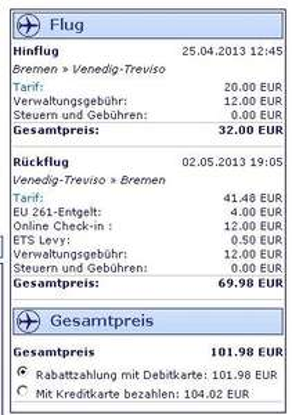 6 Nächte (nahe) Venedig inkl. Unterkunft + Flug ab Bremen € 290,01 für 2 Pers.