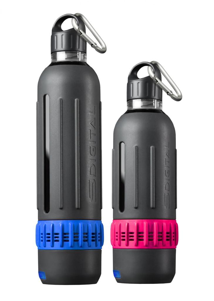 SDigital Spritz Marathon-Kit, Trinkflasche-Set mit Bluetooth-Lautsprecher (BPA-frei)