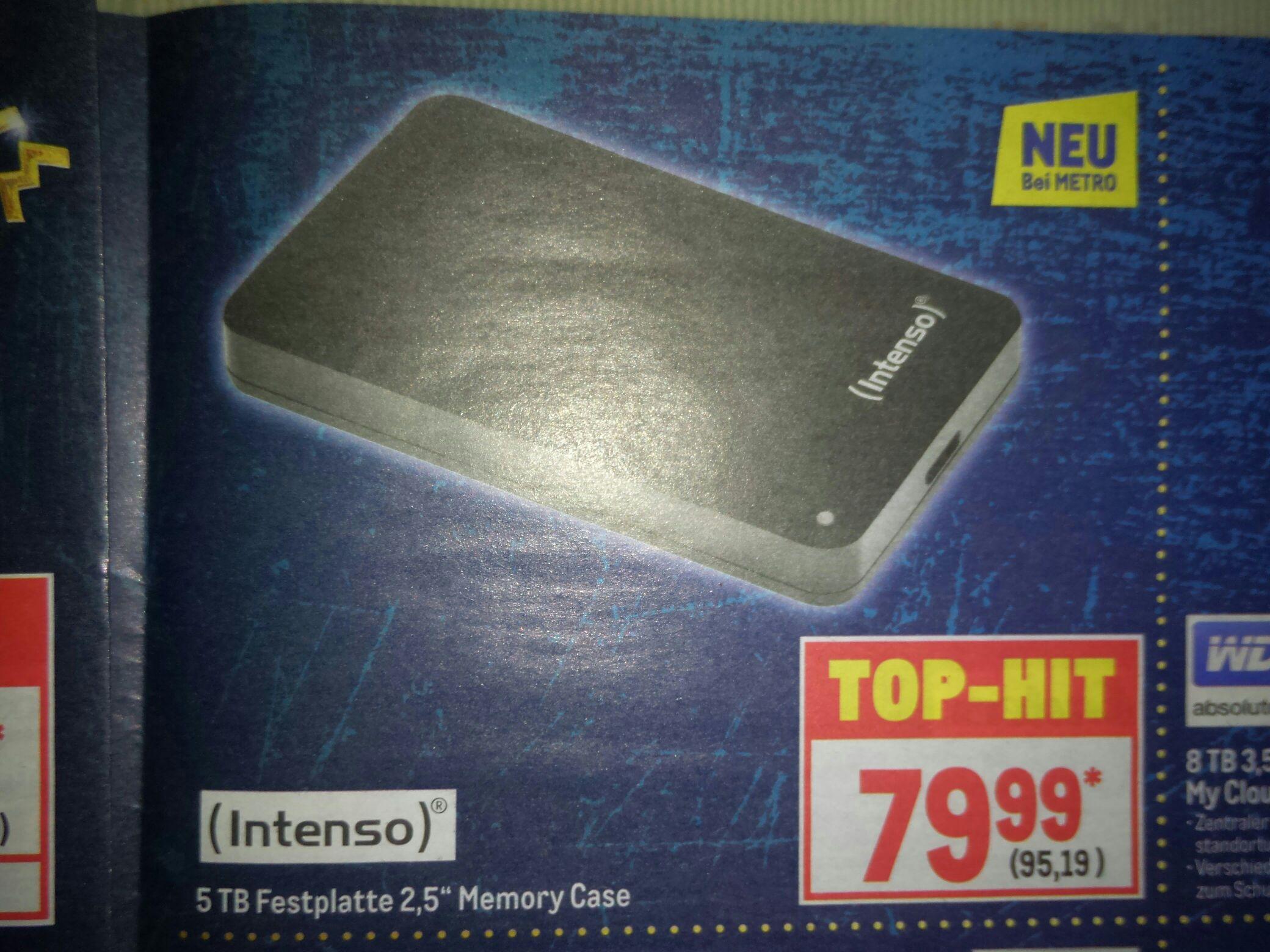 "METRO: 5TB Intenso USB Festplatte 2,5"""