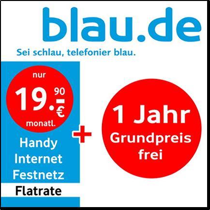 Allnet Flat mit 500mb -- Blau.de / E-Plus -- für rechnerisch 10,77€/Monat