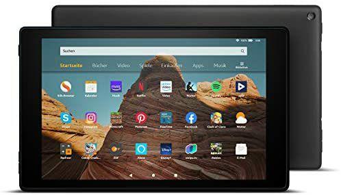 Amazon Fire HD 10 Tablet, 64 GB, schwarz, mit Werbung