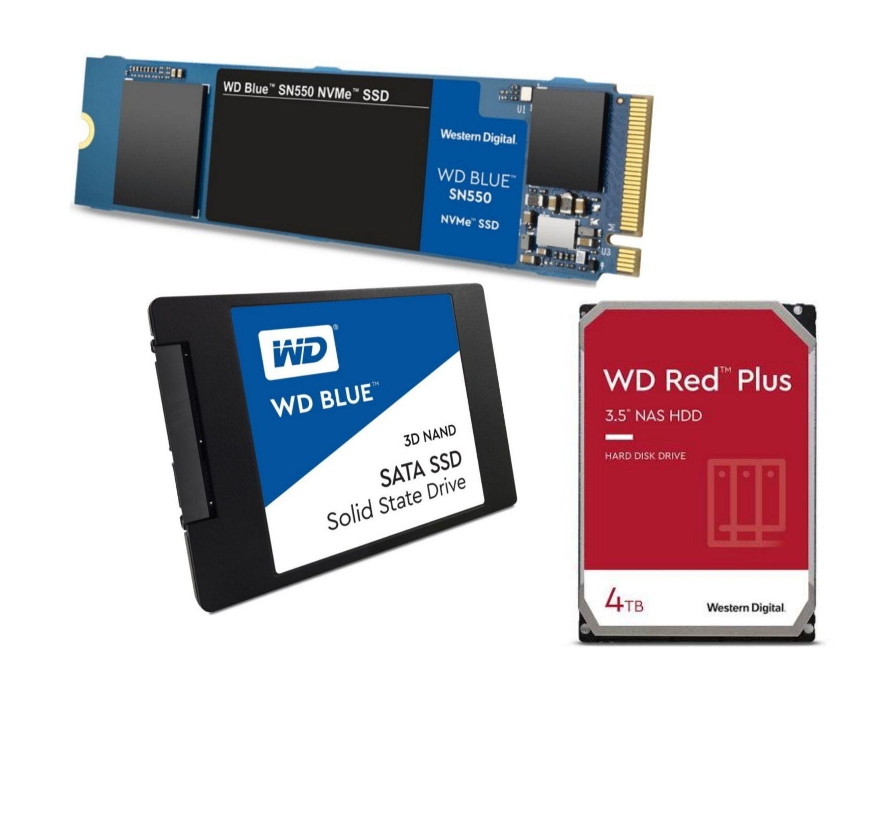 "WD Blue SN550 1TB M.2 NVMe bzw. WD Blue 3D 1TB 2,5"" SATA SSD für jeweils 84,90€ inkl. Versand / 2x4TB WD Red Plus NAS HDD für 184€ inkl."