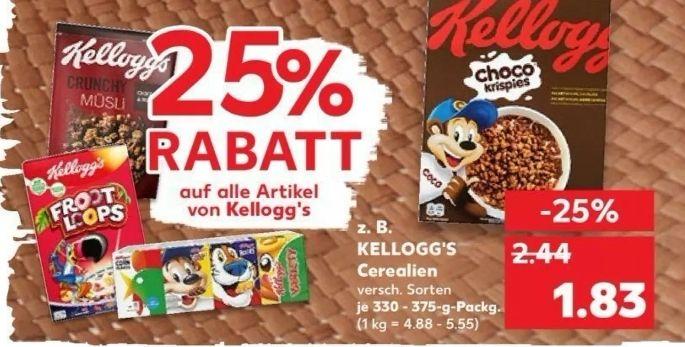KAUFLAND - diverse Rabattaktionen: 25% Kellogg's, 20% Somat, 50% LEITZ und 20% K-Classic Säfte