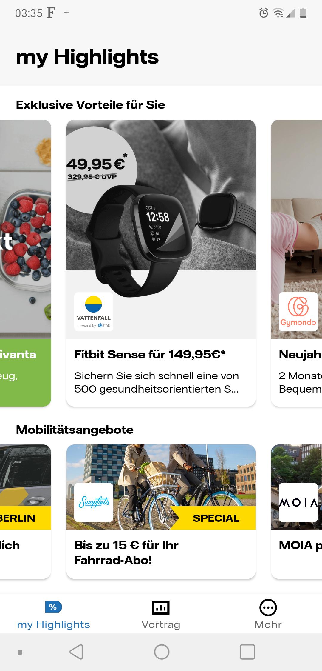 Fitbit Sense für 149,95 über die my Highlights App von Vattenfall(500x verfügbar) ab 04.01.2020