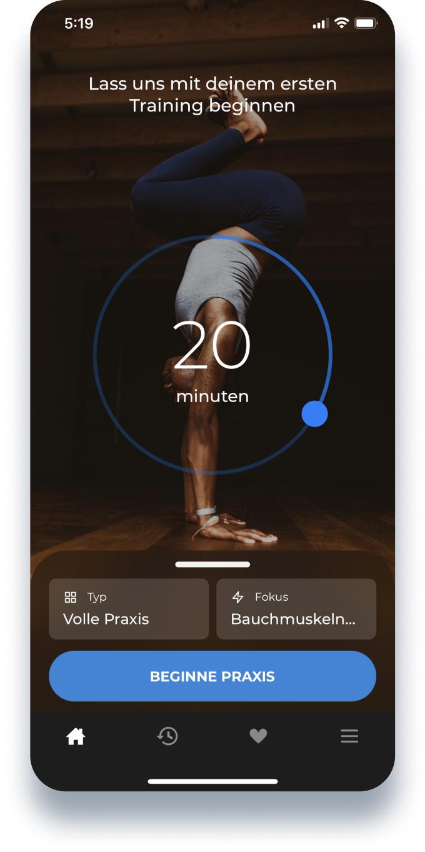 Down Dog (Yoga und mehr) App Jahresabo mit 75% Rabatt