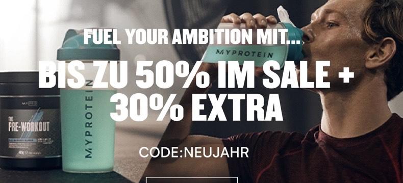 MyProtein Sale mit bis zu 50% Rabatt und 32% Extra-Rabatt