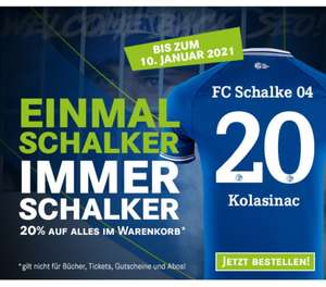 20% auf alles im Schalke 04 Shop