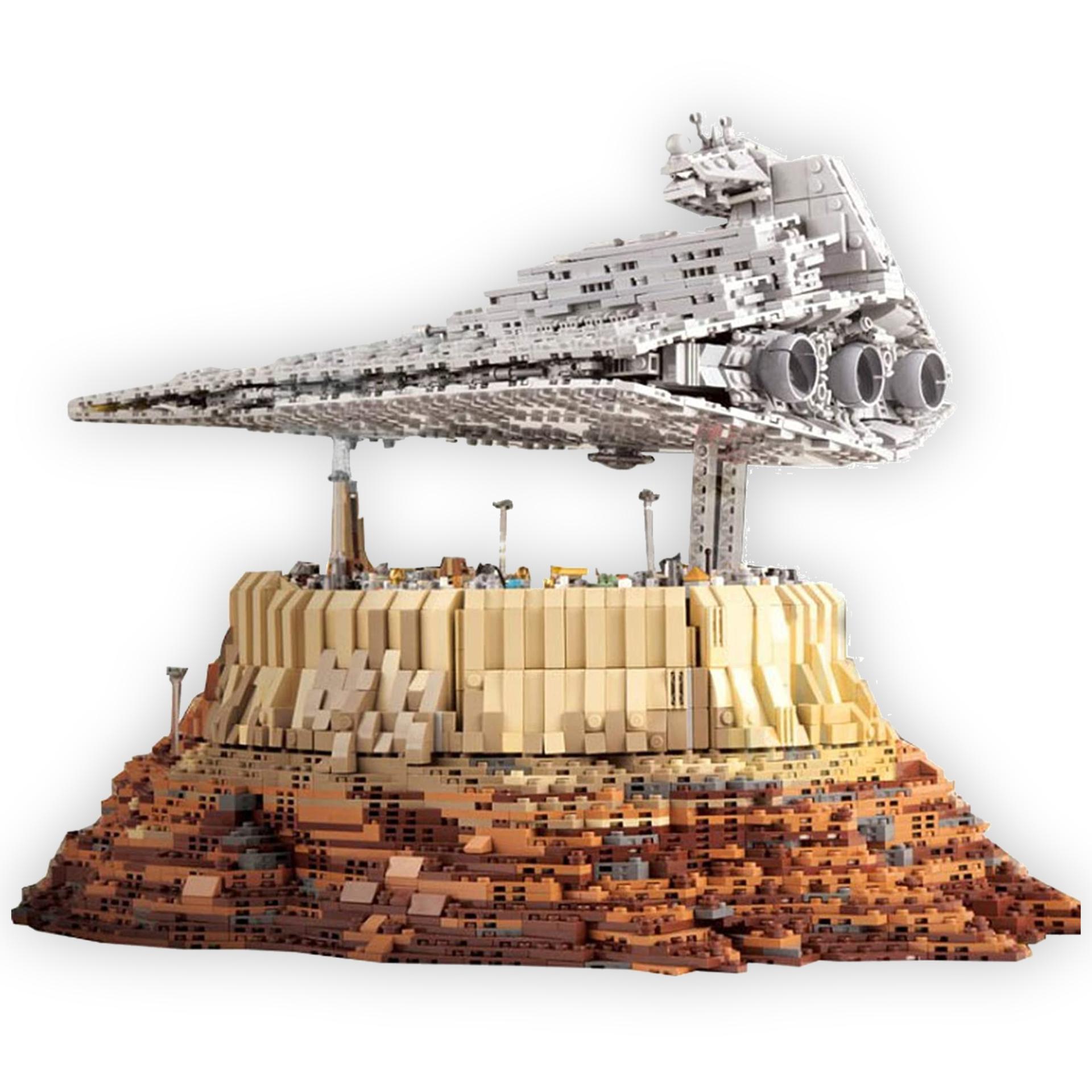 Mould King: Empire Over Jedha City - Klemmbaustein Sternenzerstörer (5162 Teile, Zwillings-Ionenantrieb, Star Wars)