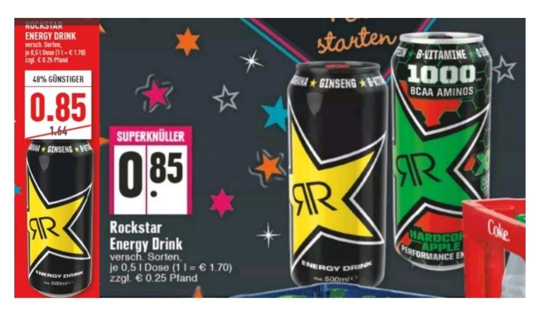 [Edeka + Marktkauf Rhein-Ruhr] 3x Rockstar Energy Drink + Lay's Chips gratis dazu mit Coupon für 2,55€